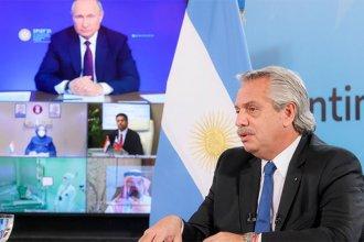 Fernández y Putin anunciaron que inicia la producción de Sputnik V en Argentina