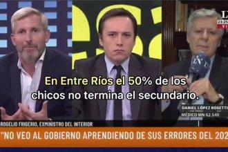 """""""En Entre Ríos el 50% no termina el secundario"""": la cifra de Frigerio para pedir la vuelta a la presencialidad"""