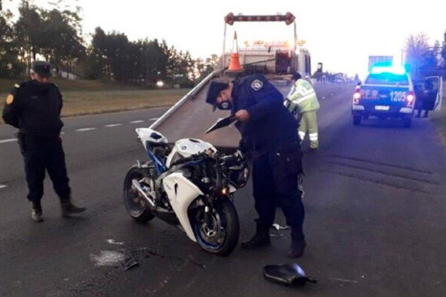 Así quedó la moto luego del choque.