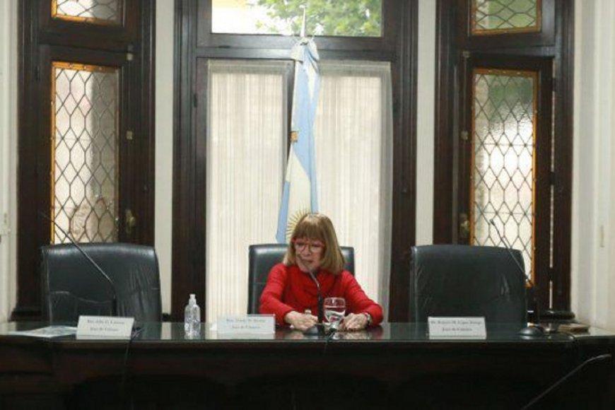 Jueza Noemí Berros, encargada de dictar sentencia.