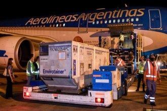 Argentina recibió este lunes más de un millón de vacunas del laboratorio AstraZeneca