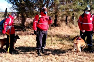 Bomberos entrerrianos colaboran en la búsqueda de la pequeña desaparecida en San Luis