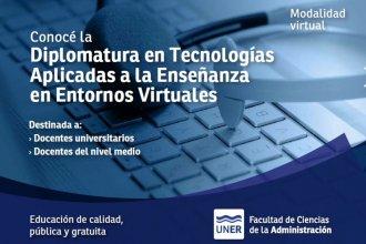 ¡Atención docentes de nivel medio y universitario! Nueva diplomatura en tecnologías aplicadas a la enseñanza en entornos virtuales