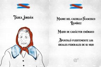 Bordet recordó a Tadea Jordán, la madre de Francisco Ramírez