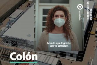 """""""Mirá lo que lograste con tu esfuerzo"""": curiosa publicidad del gobierno nacional con el hospital modular de Colón"""