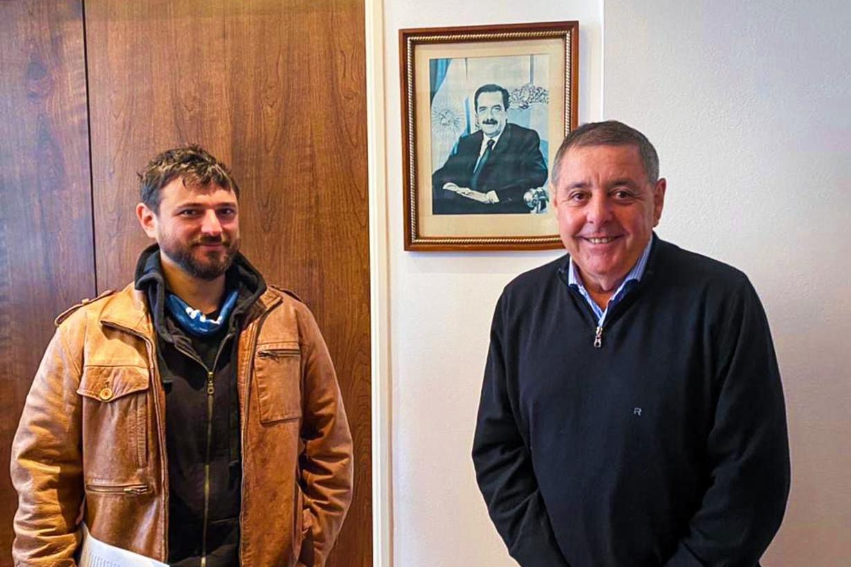 La foto que mostró el senador entrerriano.