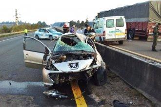 Falleció una concordiense en un accidente sobre la Autovía Artigas