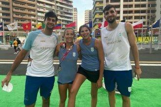 Frente a duplas brasileñas, debut argentino en Vóley Playa con Gallay y Azaad