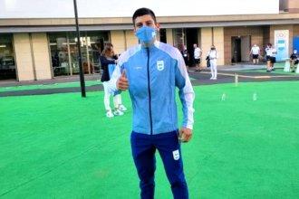 Recién instalado en la Villa Olímpica, el entrerriano Arregui tendrá un rápido y exigente debut