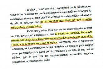 """""""Temerario y malicioso"""": la Justicia Federal constató que Blazquez usó 122 fallecidos para avalar su lista"""