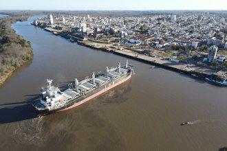 Por el río Uruguay, saldrán productos de la región en dos buques rumbo a India