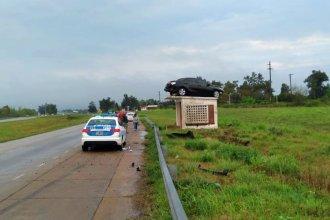 """Está en observación el jefe de Policía de San José que protagonizó el accidente del <i>""""auto volador""""</i>"""