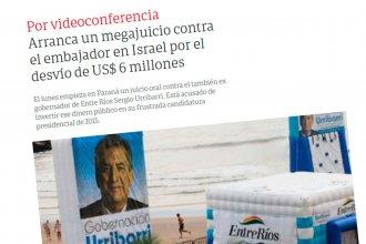 El inicio del megajuicio al embajador Urribarri capta la atención de medios nacionales
