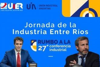 Cresto y Frigerio, juntos en un panel de la Unión Industrial de Entre Ríos