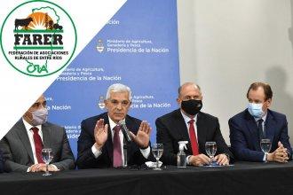 """FARER tildó de """"maquillaje"""" y de """"parche electoralista"""" a los anuncios del ministro de Agricultura"""