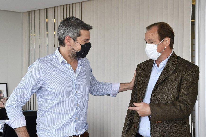 Bordet junto al ministro de Turismo de la Nación.