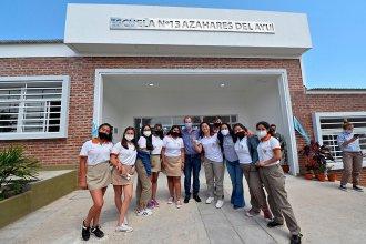 Inauguraron el nuevo edificio de la escuela secundaria de Colonia Ayuí