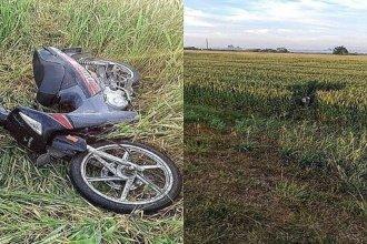 Motociclista fue embestido y abandonado a la vera de la ruta
