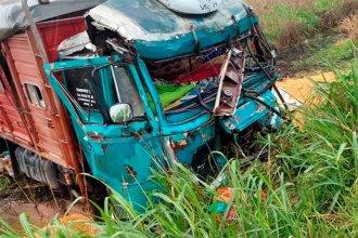 Entrerriano perdió la vida en impresionante choque de tres camiones