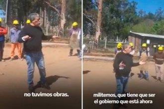"""Video: el sindicalista que recomienda a los obreros votar al gobierno para asegurar la """"continuidad de trabajo"""""""