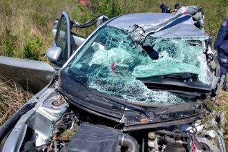 Tras un choque en ruta entrerriana, una mujer falleció y hay varios heridos