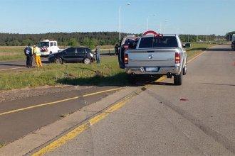 Una mujer fue hospitalizada tras un accidente en la autovía Artigas