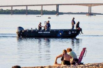 Un hombre desapareció en aguas del río Uruguay a la vista de todos