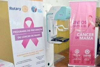 """El tema del mamógrafo """"estaría resuelto"""" y el Ministerio de Salud desestimó la donación del Rotary"""