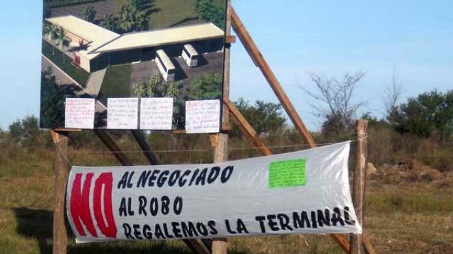 La protesta contra el proyecto