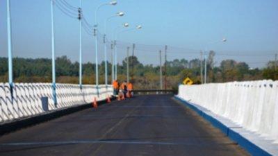 El Puente Alvear, cortado por reparaciones