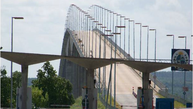 """Por el puente """"San Martín"""" ingresó con la droga."""