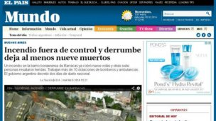 El mundo habla de la tragedia en Barracas