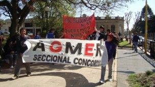 Segunda jornada de protesta docente en Concordia