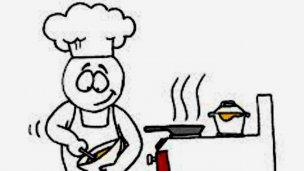 Inscriben para un curso de cocinero