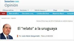 """El """"relato"""", visto desde el Uruguay"""