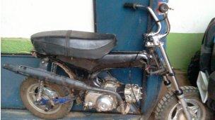 Una moto secuestrada en  Colón