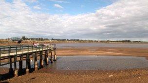 Histórico estiaje del lago de Salto Grande