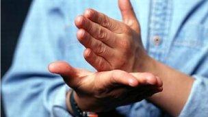 El lenguaje de señas, presente en los actos del Día de la Bandera