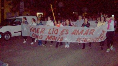 Los peregrinos se preparan para llegar a Arroyo Barú