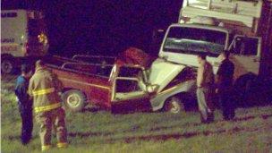 Accidente fatal entre un camión y una camioneta cerca de Villa Elisa