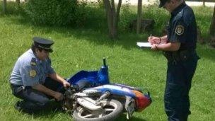 Luego de un operativo cerrojo, se secuestró una moto con pedido de captura