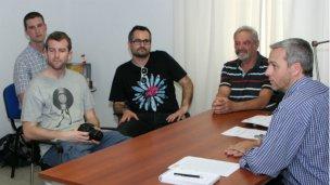 Periodistas suizos recibidos por Canali