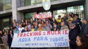 La lucha anti fracking, hoy en Tribunales