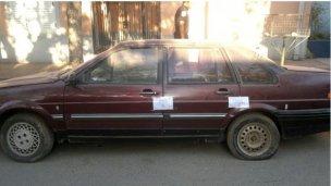 Auto robado, de Río Negro a San José