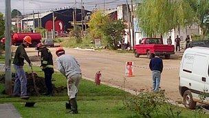 Evacuaron al barrio por un escape de gas