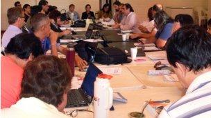 Los secretarios generales de AGMER se reúnen en Colón
