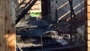 Se incendió una casilla y murió una persona