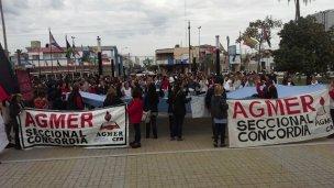AGMER Concordia quiere ir a Paraná