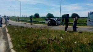 Accidente en el cruce de las rutas 39 y 20