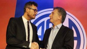 Macri se metió en las elecciones de AFA